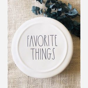 Rae Dunn FAVORITE THINGS Ceramic Jewelry Box